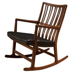 Early Hans Wegner Ml-33 Rocking Chair
