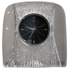 Daum Crystal Desk Clock