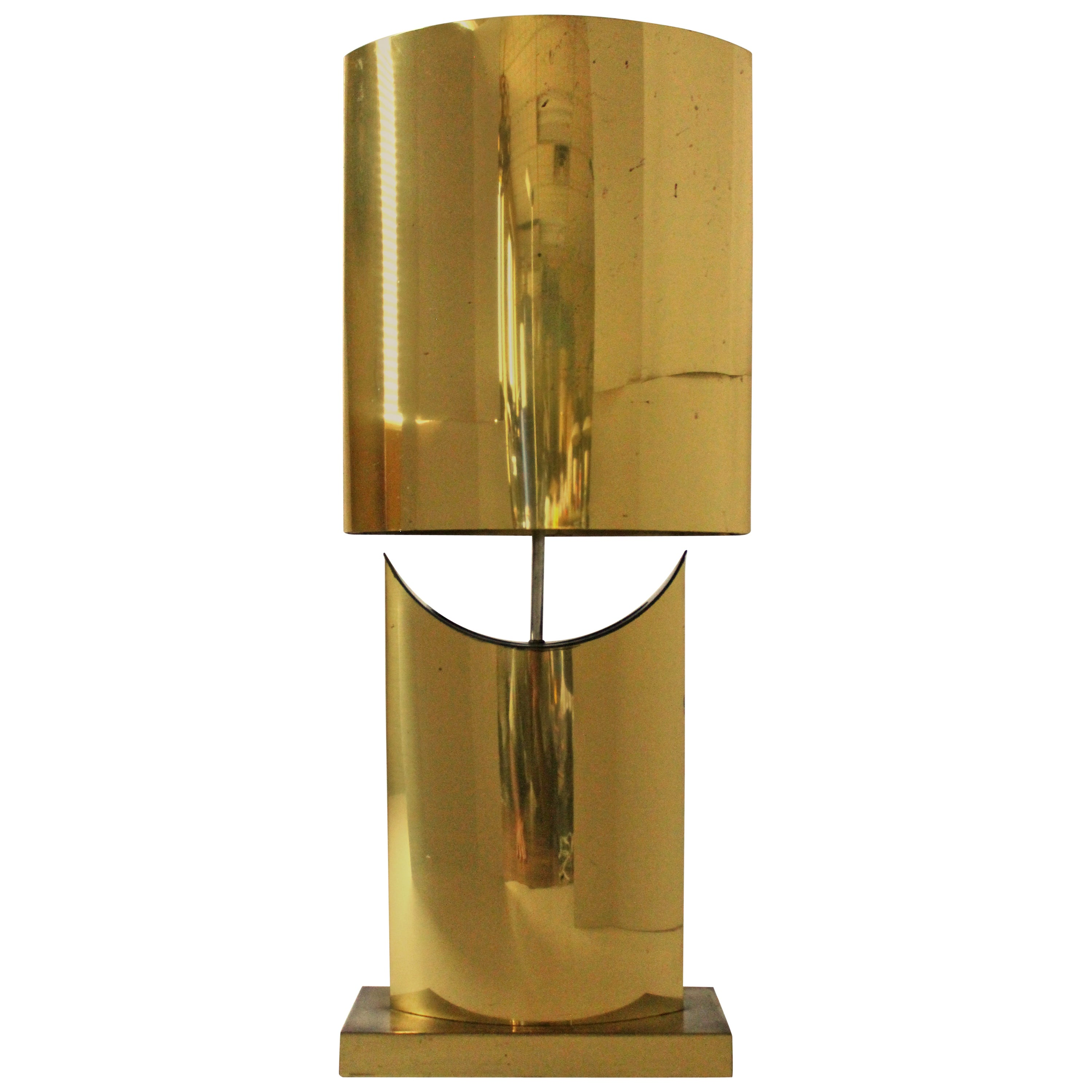 C. Jere Huge Brass Plated Table Lamp , Mid-Century Modern, 1970s, USA