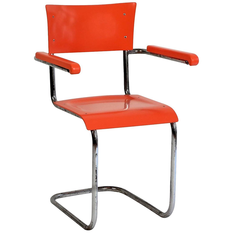 mart stam bauhaus tubular chair 1920s for sale at 1stdibs. Black Bedroom Furniture Sets. Home Design Ideas