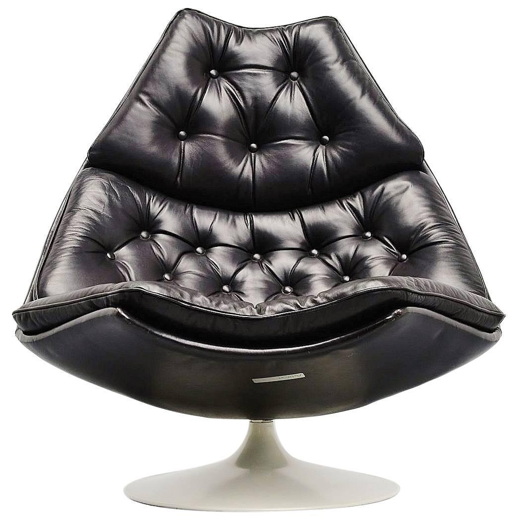 geoffrey d harcourt f588 lounge chair artifort 1974 for sale at 1stdibs. Black Bedroom Furniture Sets. Home Design Ideas