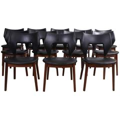 Tove & Edvard Kindt-Larsen Set of 12 Dining Chairs in Brazilian Rosewood