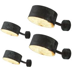 Hans-Agne Jakobsson Set of Four Patinated Copper Wall Lights