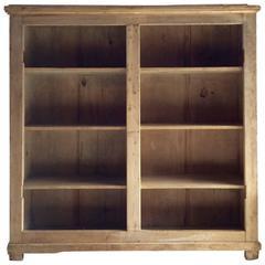 Antique Pine Pantry Cupboard Bookcase Storage Cabinet, 19th Century