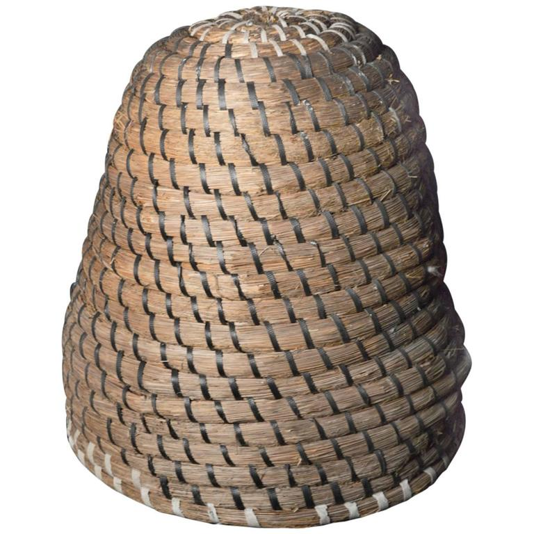 Dutch Woven Basket Bee Skep Or Bee Hive At 1stdibs