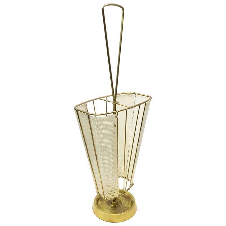 Mid-Century Brass Italian Umbrella Stand