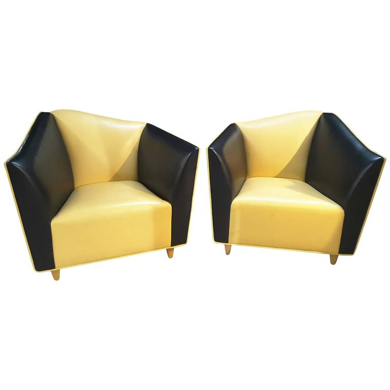 Pair of Lounge Club Chairs By The Bright Chair pany