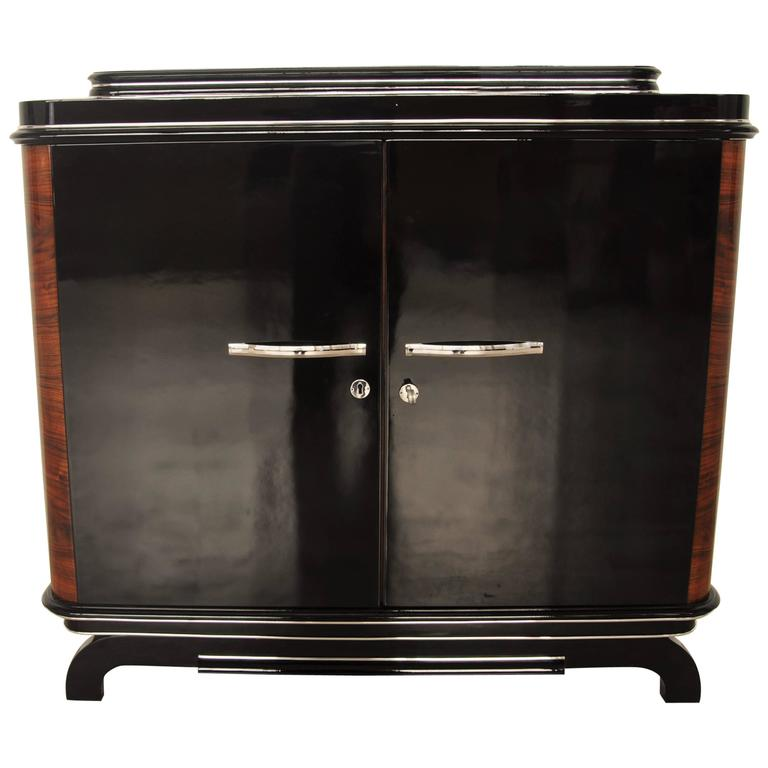 1920s Art Deco Commode with Walnut Details