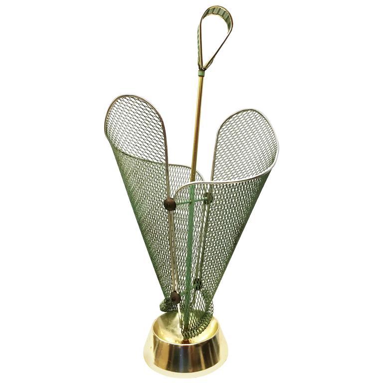 Mid-Century Green Italian Umbrella Stand