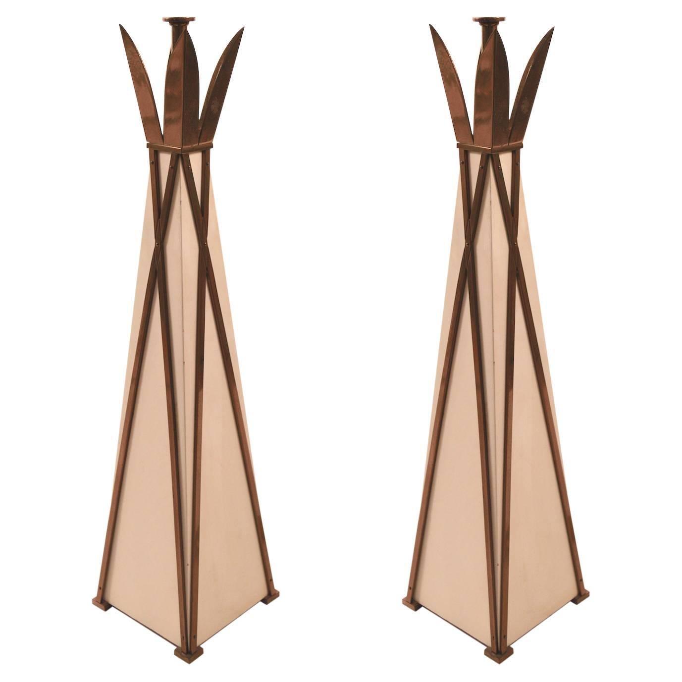 Elegant Pair of Lamps After Parzinger