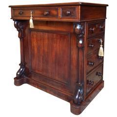 Antique 19th Century Victorian Mahogany Davenport Desk, Rare, circa 1850