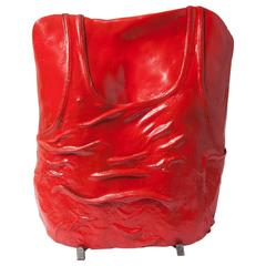 Torso Lacquered Sculpture. Signed in Back 'OB1992'