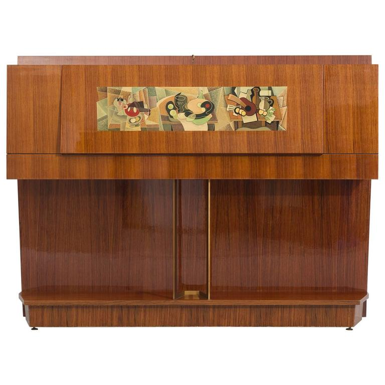 Vittorio Dassi & Gino Severini Illuminated Dry Bar Cabinet