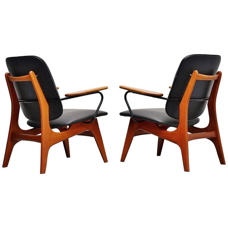 Pair of Dutch Modernist Lounge Chair, Holland, 1960