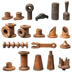 19th Century Industrial Wooden Foundry Molds or Moulds
