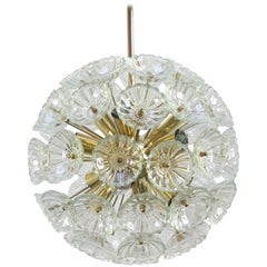 1960s German Sputnik Dandelion Twelve-Light Chandelier
