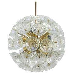 1960s German Sputnik Dandelion Twelve-Light Chandelier