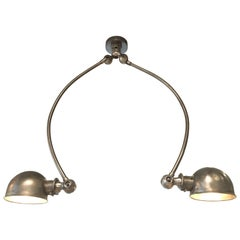 Double Arc Polished Steel Jieldé Pendant Light or Wall Sconce