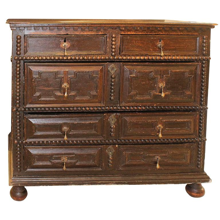 Period 17th-Early 18th Century Pilgrim Chest For Sale