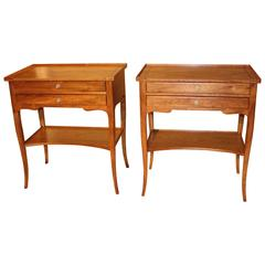 Pair of Early 20th Century Walnut Side Tables