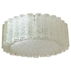 Doria Organic Glass Flush Mount Chandelier