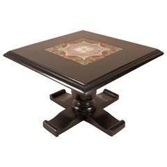 Mid-Century Ebonized, Tiled Coffee Table