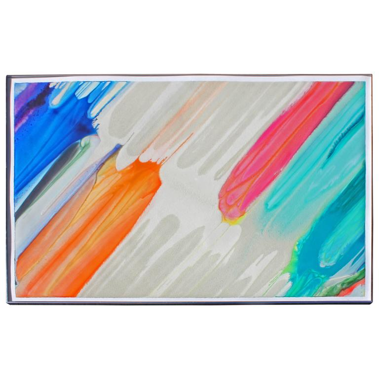 Large Colorful Modernist Painting by James Ridlon