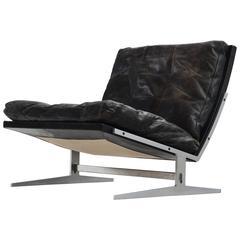 Fabricius & Kastholm Black Leather Slipper Chair