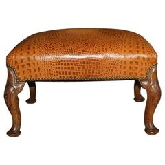 Embossed Leather Stool