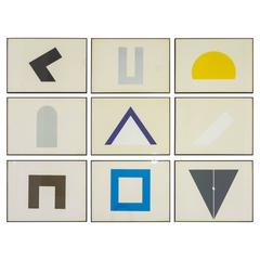 "David Roth ""Archetypes,"" Set of Nine Screen Prints"