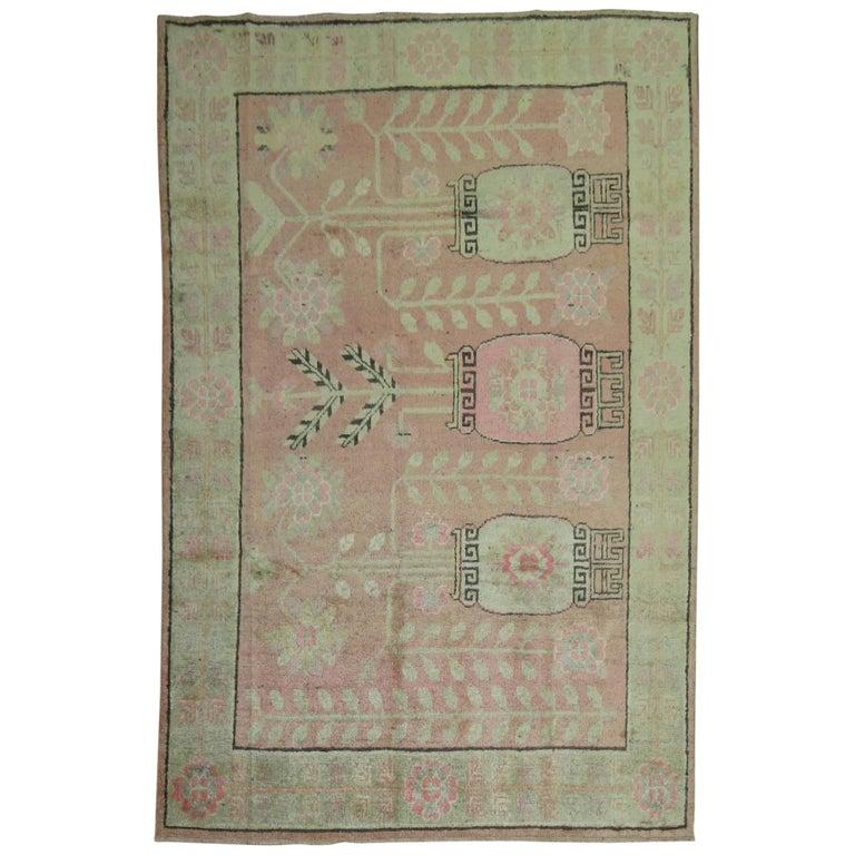 Pink Samarkand Khotan Rug For Sale