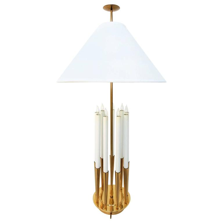Hollywood Regency Tommi Parzinger Brass Candelabra Table Lamp