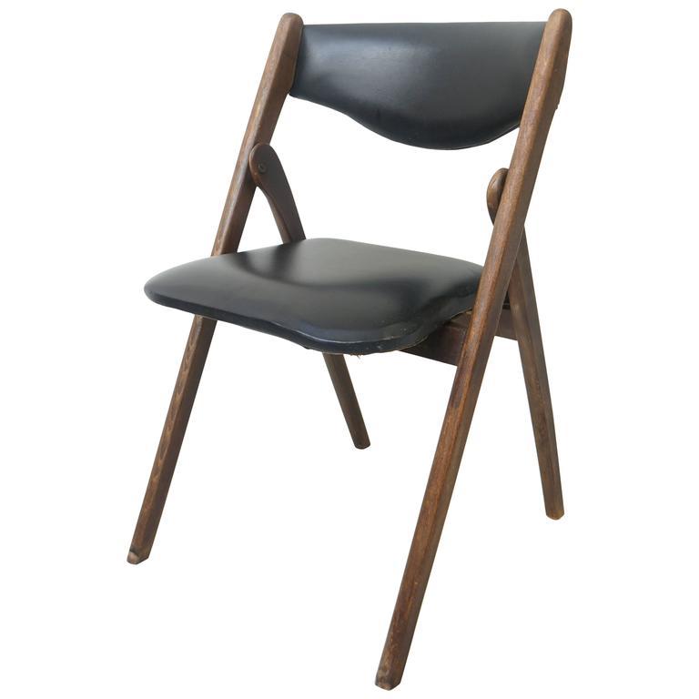 Mid Century Modern Folding Chair Allan Gould 1950s at 1stdibs