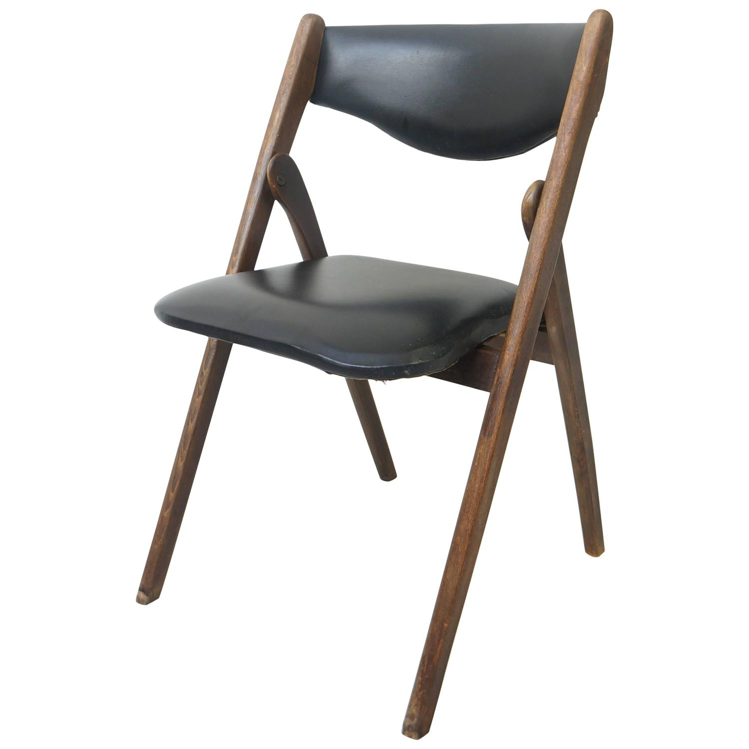 Mid Century Modern Folding Chair Allan Gould 1950s at 1stdibs