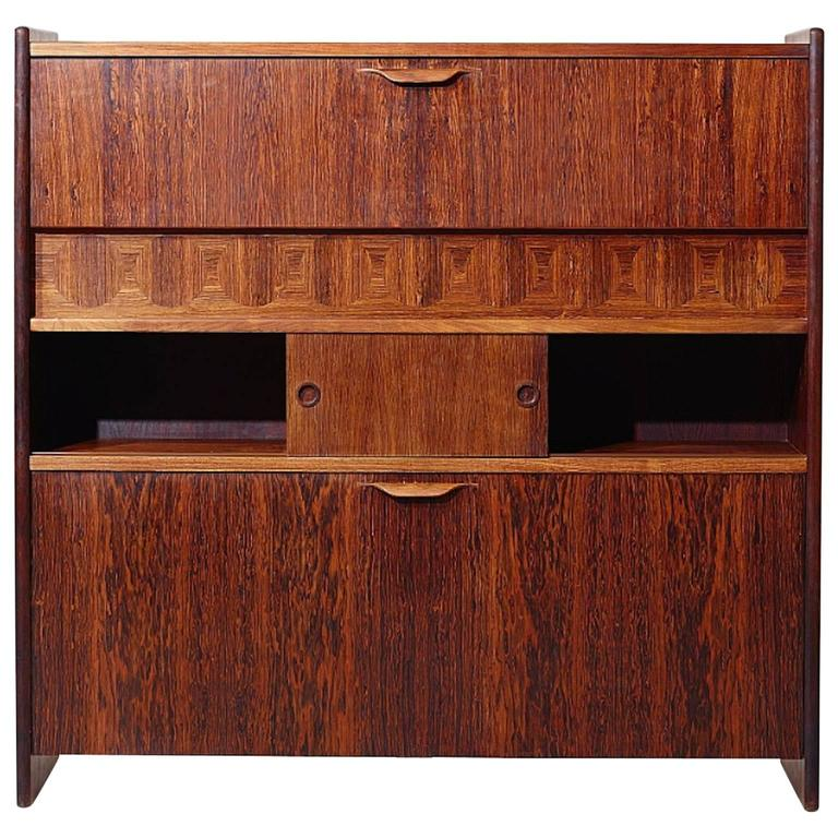 Johannes Andersen Rosewood Bar Cabinet At 1stdibs
