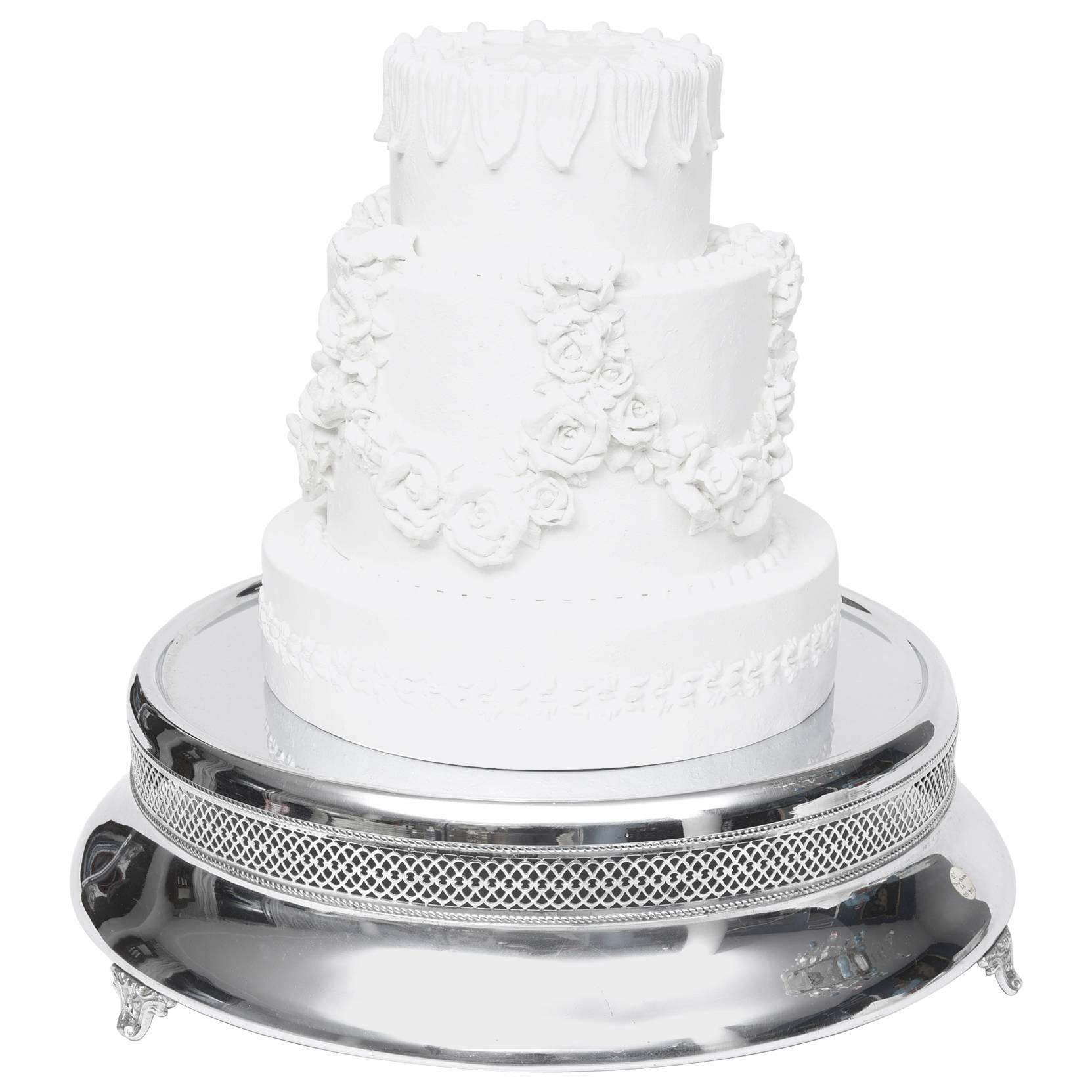 Antique Victorian Silver Plate Wedding Cake Stand/Plateau ...
