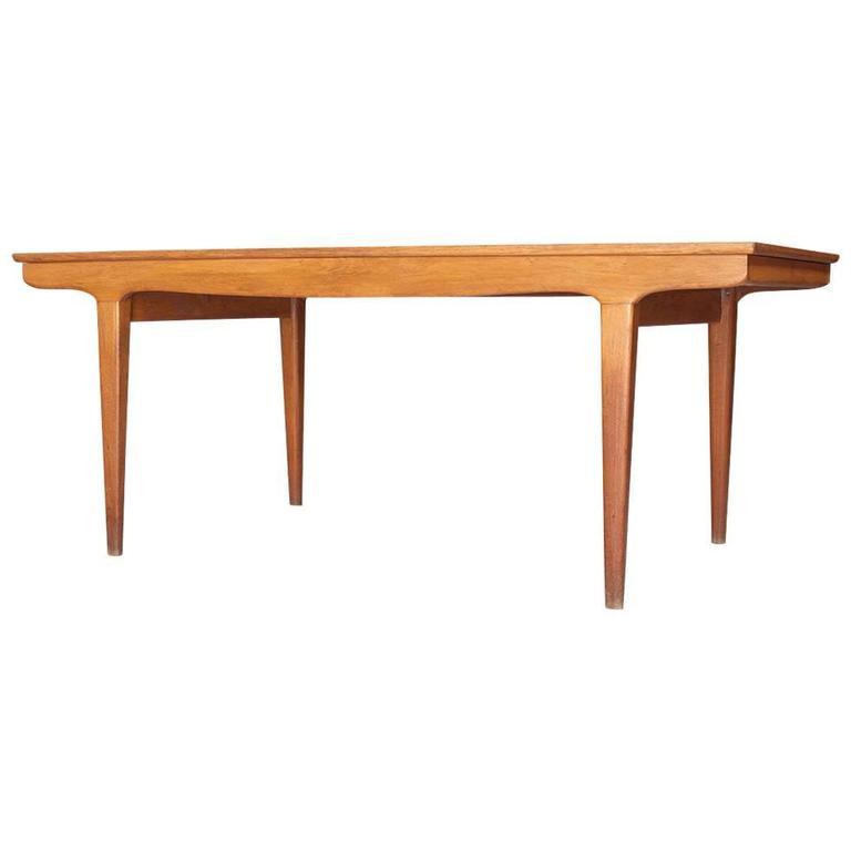 Vintage Danish Oak Scandinavian Dining Table, 1960s