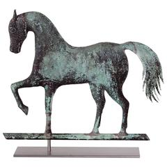 Prancing Horse Weathervane, Attributed to Jewel & Co., Waltham, Massachusetts