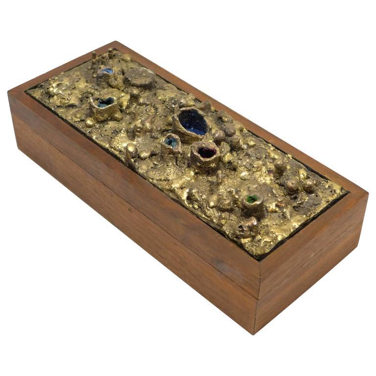 "James Bearden ""Trinket"" Box in Wooden Frame"