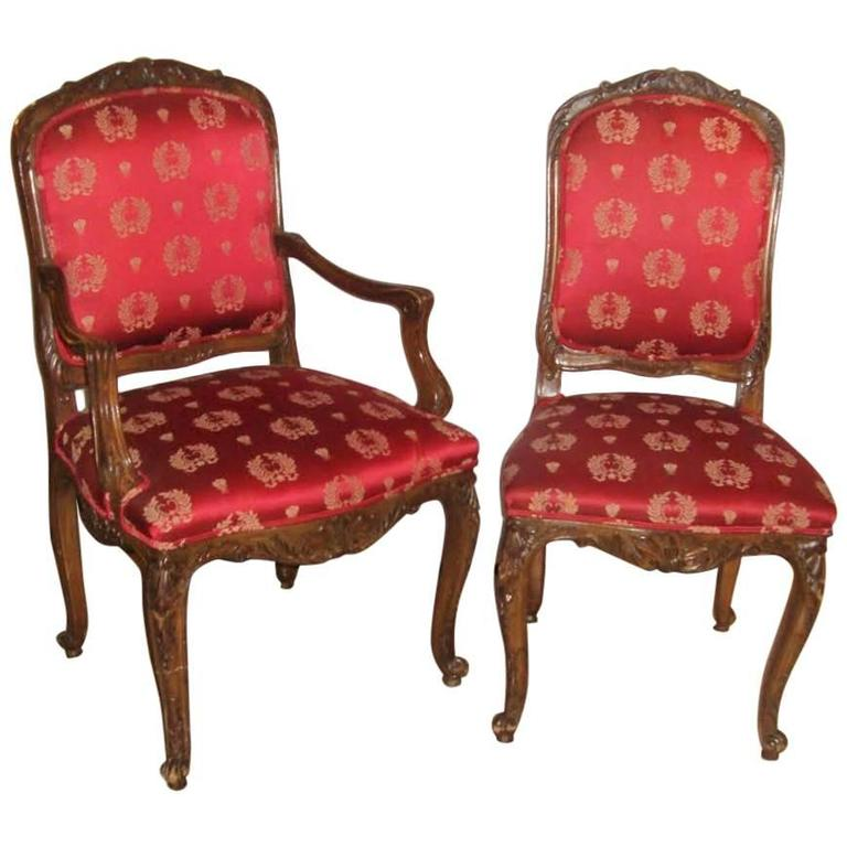 Set Of 14 Dining Chairs Louis XV Style Maison Jansen For Sale At 1stdibs