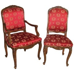 Set of 14 Dining Chairs Louis XV Style, Maison Jansen