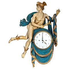 Period Early 19th Century Austrian Neoclassical Wall Clock