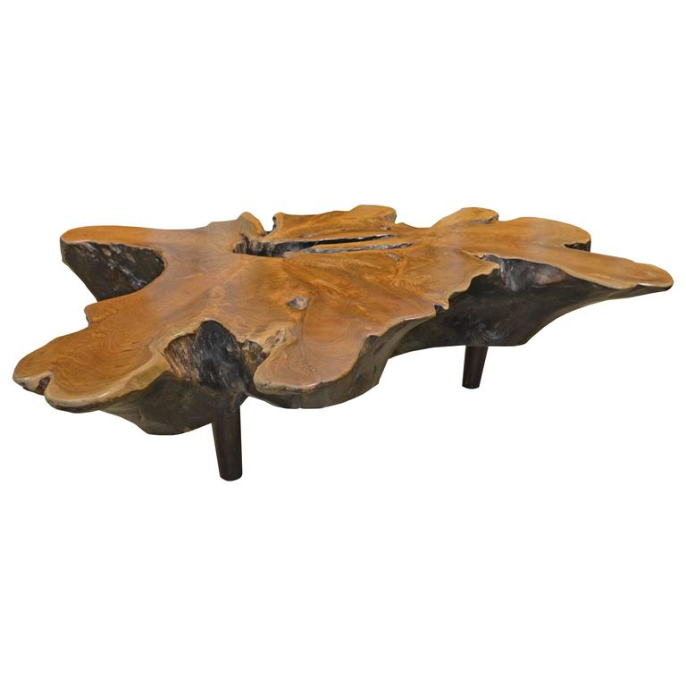 Mid Century Organic Teak Wood Coffee Table At 1stdibs