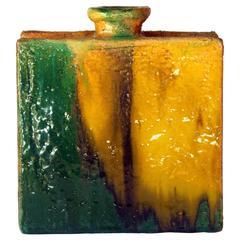 Gli Etrushi Ivo De Santis Italian Pottery Slab Built Square Vase