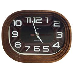 Modernist Wooden Clock from Kienzle Electronic in Germany, 1970s