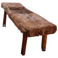 "19th Century Primitive Mezquite Work Bench ""Molendero"""