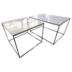 Very Large Milo Baughman Thin Line Tables for Thayer Coggin, 1970s