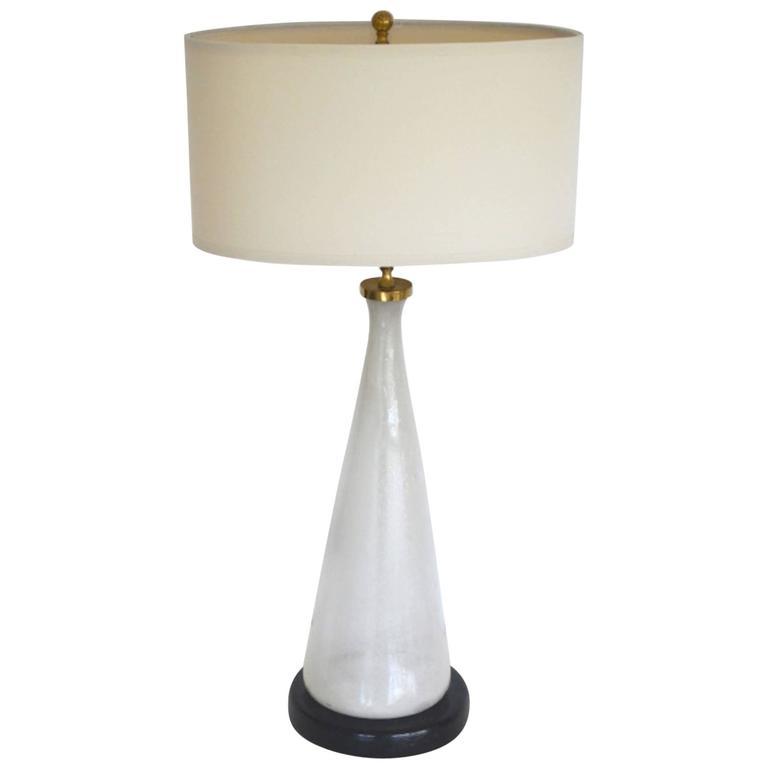 Mid-Century Italian Blown Glass Table Lamp