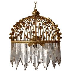 Italian Brass and Glass Chandelier