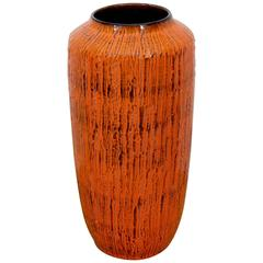 Large Striated Drip Glaze Vase by Scheurich